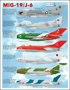 MiG 19 S / Shenyang J-6: China Pakistan Egypt Albania (1/48 decals, Iliad 48005)