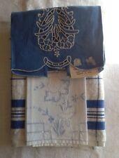 VINTAGE LINEN TOWEL FABRIC / RUNNER PLUS 2 towels