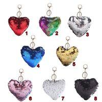New Car Jewelry Handbag Pendant Bag Accessories Heart Keyring Sequins Keychain