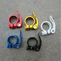 Bike Seat Post 31.8mm Safety Clamp Seatpost Clips Collar Quick Release Equip #LK
