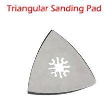 Pro Triangular Oscillating Tool 80mm Sanding Pad Quick Release Fit For Multitool