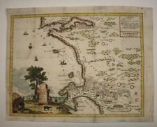 CAPE OF GOOD HOPE SOUTH AFRICA 1758 TIRION ANTIQUE ORIGINAL COPPER ENGRAVED MAP