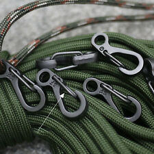 10* Hiking Climbing Spring Hanging Buckle Snap Clip Hook Key Ring Carabiners New