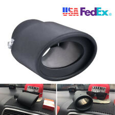 63MM Black Stainless Steel Car Rear Exhaust Pipe Tip Muffler Cover Tail Throat