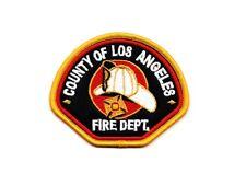 Ecusson COUNTY OF LOS ANGELES FIRE DEPT pompier américain USA Patch parche toppa