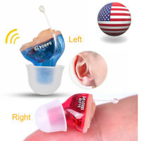 1 Pair Hearing Aids CIC Invisible Small Sound Voice Amplifier Enhancer Mini USA