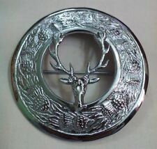 Brand New Stag Head Kilt Pin and Brooch Badge Fly Plaid High Quality Antique End