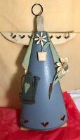 Angel Of The Garden, Folk Art Tin Figure