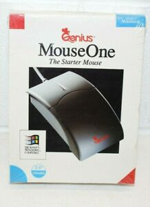 """Vintage NOS SEALED! New Genius Mouse One Notebook Microsoft Compatible 3.5"""" disk"""