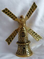 """VINTAGE  BRASS    """" WINDMILL BELL """"   BY  ELPEC  - SAILS ROTATE"""