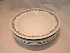 """Shenango Gray/Green Scroll RimRol Restaurant 4-9"""" Rim Rimmed Soup Pasta Bowls EC"""