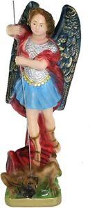 Statua San Michele Arcangelo in gesso cm. 30 - Made In Italy