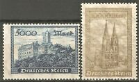 DR Deutsches Reich Rare WWI Stamps set Castles Towers Landscapes  Architecture