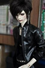 "BJD Leather Coat Top Clothing Jacket For 1/4 17"" 44cm BJD doll Volks Luts MK DK"