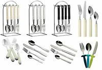 3pc, 16pc, 24pc Cutlery Set Stainless Steel Children Kitchen Home Cafe Sets