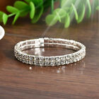 Elastic Rhinestone Crystal Stretch Bracelet Bangle Wristband Wedding Bridal Gift