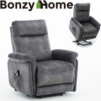 Electric Lift Chair Recliner Armchair Chaise Lounge Seat Sofa for Elderly Grey