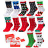 CHRISTMAS SOCKS WOMEN'S LADIES XMAS NOVELTY STOCKING SANTA SNOWMAN LONG SOCKS