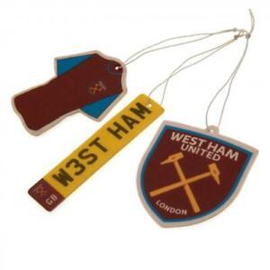 West Ham United Football Club 3Pk Triple Car Air Freshener Freshner WHUFC
