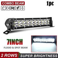 """7"""" INCH LED WORK LIGHT BAR FLOOD OFFROAD ATV FOG TRUCK LAMP 4WD 12V 6"""" 8'' 10''"""