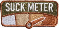 "Suck Meter Morale Hook Patch 2.5"" x 1.25"" MultiCam"