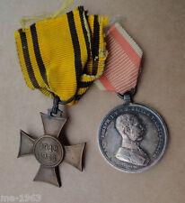 Österreich K.u.K. Monarchie 2 Auszeichnungen Tapferkeitsmedaille silber