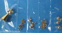 Baumbehang Baumschmuck 13 tlg. goldfarben Weihnachten Puppenhaus Miniatur 1:12