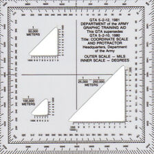 Coordinate Scale and Protractor, Used for Map Reading (GTA 5-2-12, 2008)