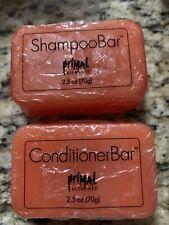 Primal Elements Shampoo Conditioner Bar Set 2.5 Island Sands Citrus Camping Eco