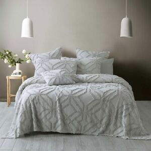 Bianca Willow Coverlet Set Silver
