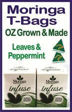 MORINGA T-BAGS OZ Grown & Made, MORINGA LEAF with PEPPERMINT X 2 Boxes - 48G