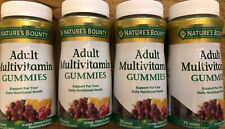 Nature's Bounty Adult Multivitamin Gummies - 75 Gummies X 4! Exp November2020