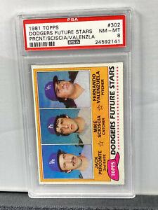 1981 Topps #302 Dodgers Future Stars RC Fernando Valenzuela ROOKIE PSA - 8 NM-MT