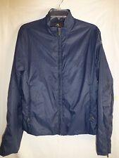 New Medium/XL Ralph Lauren RLX Sport Navy Blue Packable Wind Rain Womens Jacket