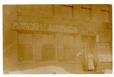 VT - ST JOHNSBURY VERMONT RPPC REAL PHOTO Postcard BRUNELLE & ASSELIN  PAINTERS