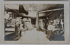 Antique Real Photo Postcard-Interior General Store-1904 to 1920