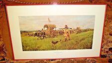"""Vintage 1972 John Clymer """"METIS BRIGADE"""" Southwest Natives Print Framed"""