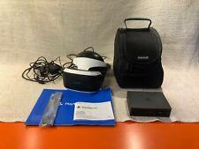 Sony PlayStation PSVR VR V2 Headset, Processor, Cables, Headphones & Carry Case
