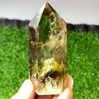 Natural smoky citrine quartz obelisk crystal wand point healing 1PC