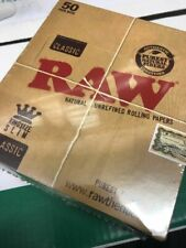 More details for full box of 50 raw cigarette rolling paper classic kingsize slim free p&p £17.19