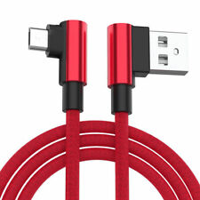 90 Degree Braided Right Angle Type C/IOS/ Micro USB Fast Data Sync Charger Cable