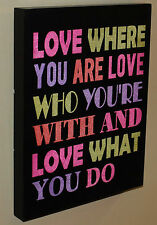 """ Love Where You Are ..  ""  Wood Wall Plaque   BRAND NEW"