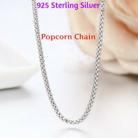 REAL Classic 925 Sterling Silver Chain Necklace SOLID SILVER 925 Jewelry Italy S