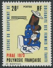 POLYNESIE N°93** Crèche (enfant) TB, 1973 French Polynesia Nursery (Child) MNH
