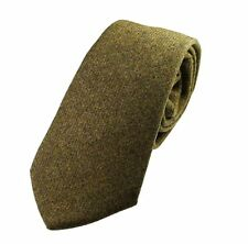 Genuine Olive Green Wool Tweed Tie - Made in the UK (U120/17)