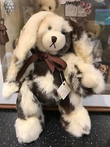 One of a Kind Artist Dianne Harkins Real Rabbit Fur Bunny 14 inch with Tag