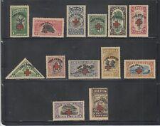 Liberia # B3-15 Mint Complete 1918 Semi Post Set Red Cross Fauna Bird Fish
