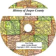 1912 History & Genealogy of JASPER COUNTY IOWA Newton Monroe Colfax IA Family