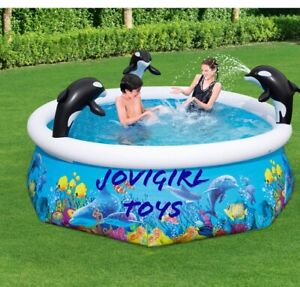 ORCA SPRAY POOL H2O GO! BEST WAY INFLATABLE POOL NEW IN BOX