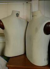 Lot of 2 Male Mannequin Body Bust Shirts Tailor'S Store Display Wood Mens Set
